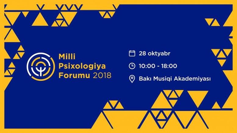 28 oktyabr 2 ci Milli Psixologiya Forumu keçiriləcək.
